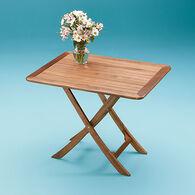 SeaForce Teak Large Adjustable Slat Top Table