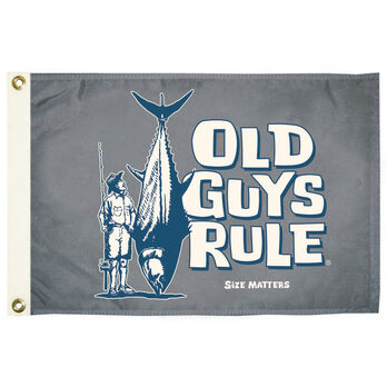 Old Guys Rule Flag, Size Matters