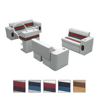 Toonmate Deluxe Pontoon Furniture w/Toe Kick Base, Complete Boat Traditional Package Plus Stand