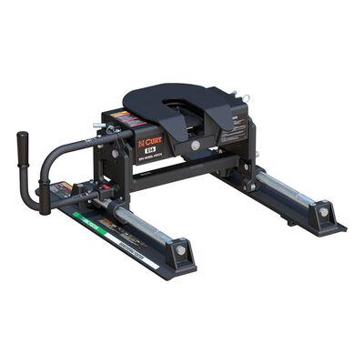 Curt E16 5th Wheel Trailer Hitch w/ R16 Roller - Slide Bar Jaw - 16,000 lbs