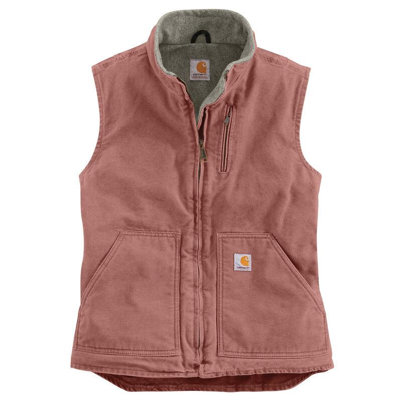 Carhartt Women's Sandstone Sherpa-Lined Mock-Neck Vest image number 5