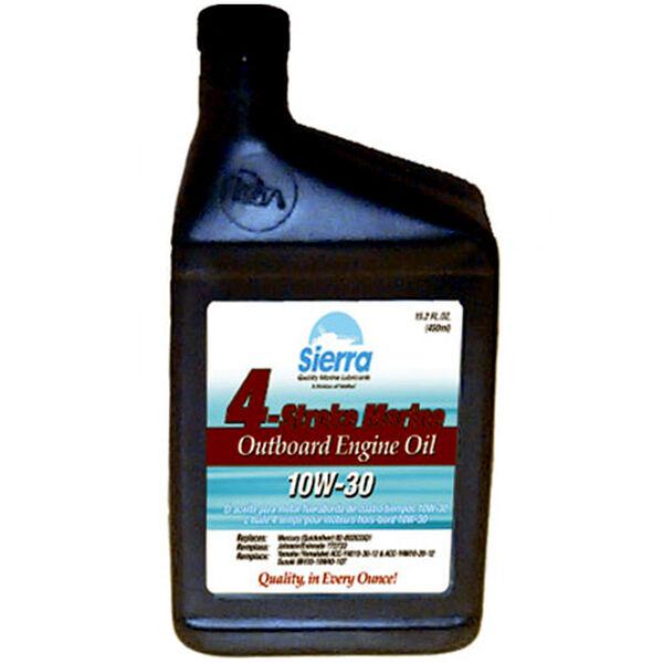 Sierra 10W-30 Oil For Mercury Marine Engine, Sierra Part #18-9420-2P (84 Case Pallet)