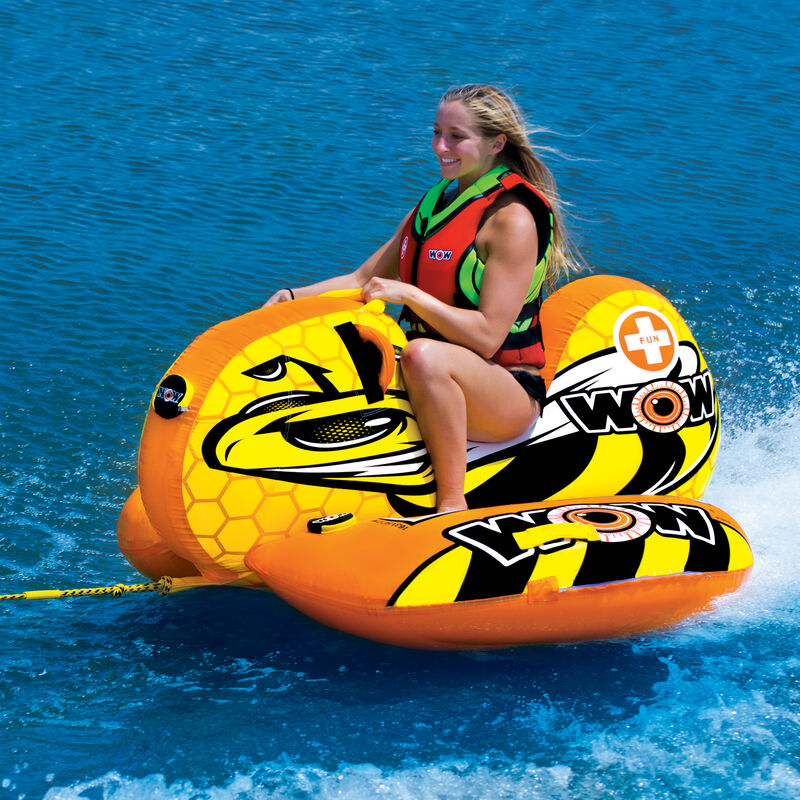 WOW Buzz Boat One-Person Towable Tube image number 2