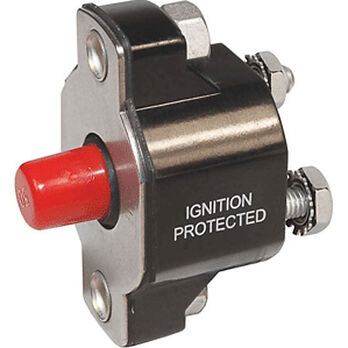 Blue Sea 2138 Medium-Duty Push Button Reset-Only, 20-Amp
