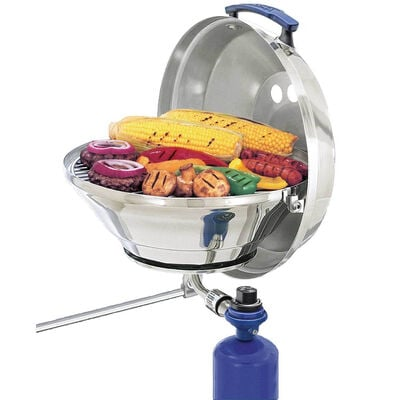 Marine Kettle Gas Grill with Hinged Lid, Original Size