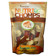 Nutri Chomps White Knotted Bone w/ Chicken Wrap, 7ct