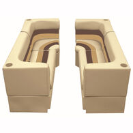 Deluxe Pontoon Furniture w/Toe Kick Base - Party Pit Package, Sand/Chestnut/Gold