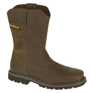 CAT Men's Wellston Pull-On Leather Steel Toe Work Boot