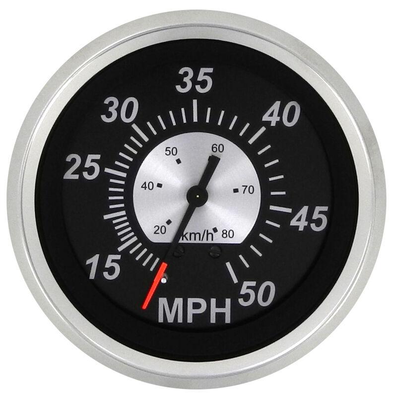 """Sierra Black Sterling 3"""" Speedometer, 50 MPH image number 1"""