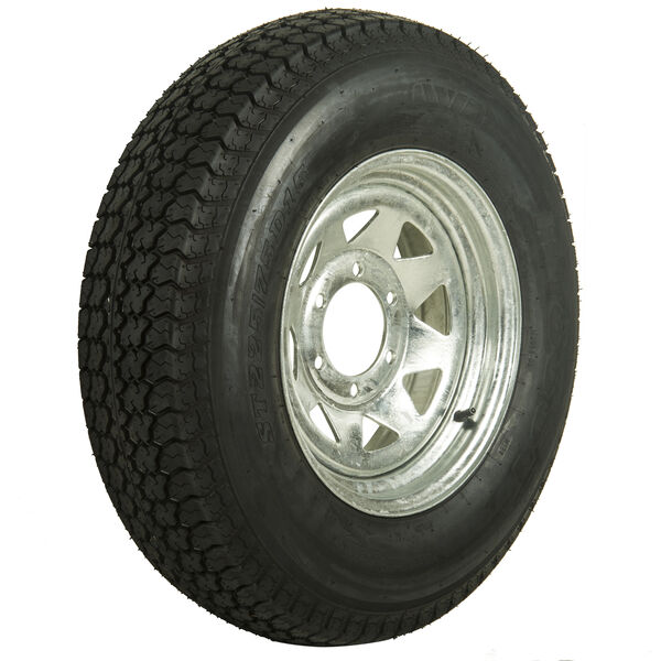 Tredit H188 225/75 x 15 Bias Trailer Tire, 6-Lug Spoke Galvanized Rim