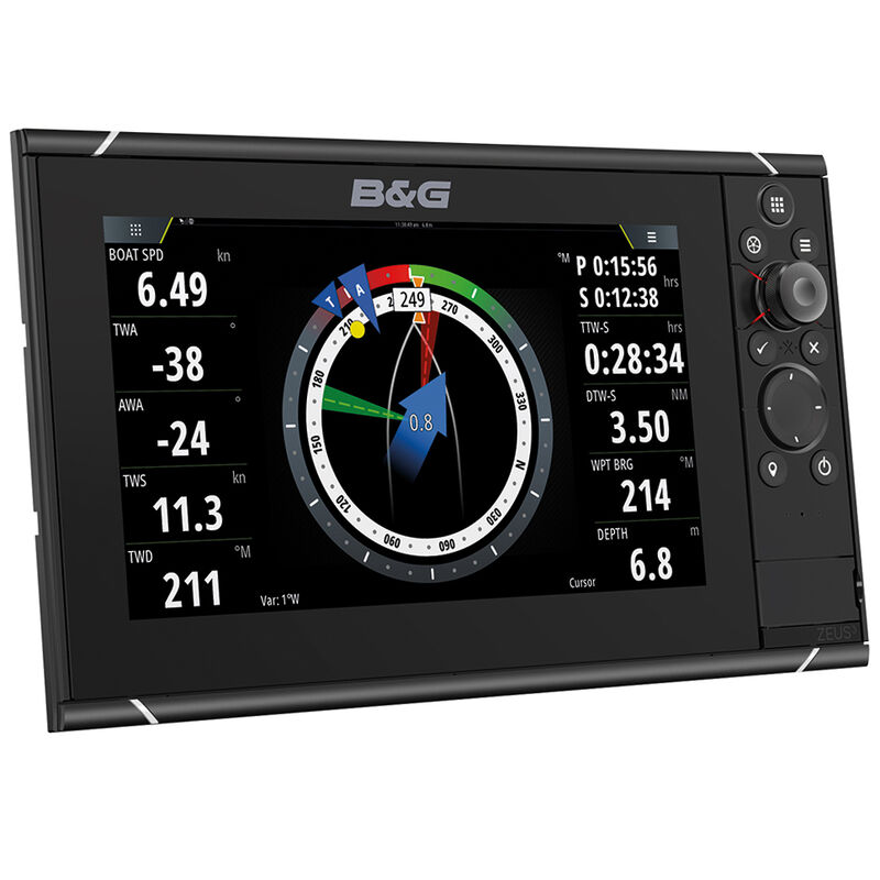 """B&G Zeus 3 9"""" Multifunction Display With Insight Charts image number 1"""