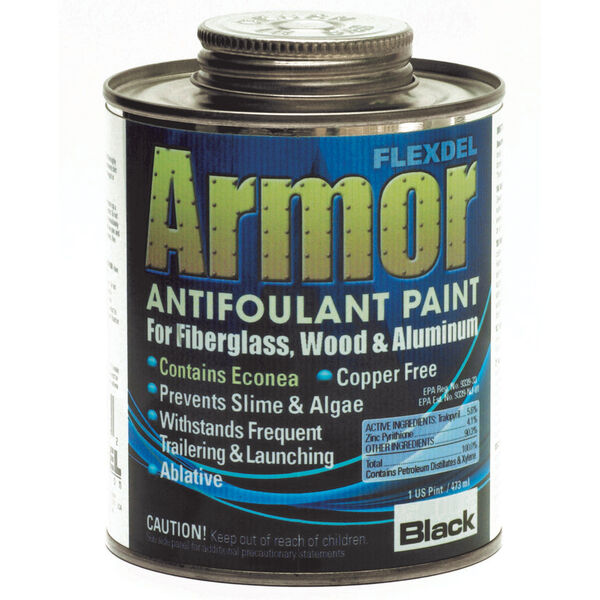 Aquagard Armor Bottom Paint For Outdrives, Pint, Black