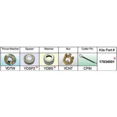 Solas 17034501 Propeller Kit for Yamaha 50-100 HP