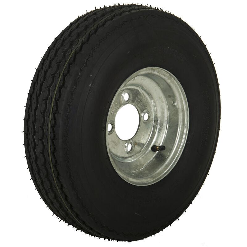 Tredit H188 5.70 x 8 Bias Trailer Tire, 4-Lug Standard Galvanized Rim image number 1