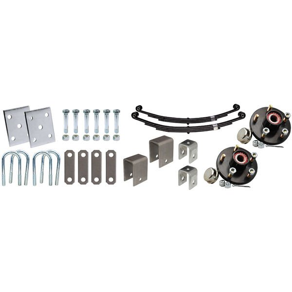 """Tie-Down 2-3/8"""" Tandem Axle Installation Kit With Painted Hub"""