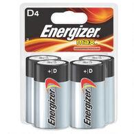 Energizer MAX D Batteries, 4-Pack