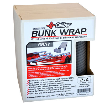 """Caliber 16' Bunk Wrap Kit For 2"""" x 4"""" Bunks, Light Gray"""