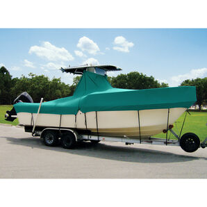 """Taylor Made Cover For Boats With Fixed T-Tops and Bow Rails, 18'4"""" x 102"""""""