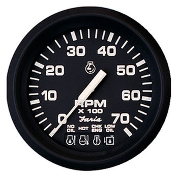 "Faria 4"" Euro Black Series Tachometer, 4,000 RPM Diesel / Magnetic Fly"