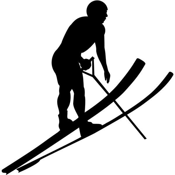 Jump Skier Decal