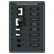 Blue Sea 230V AC Circuit Breaker Panel - 2 (16A) Sources + 4 Positions