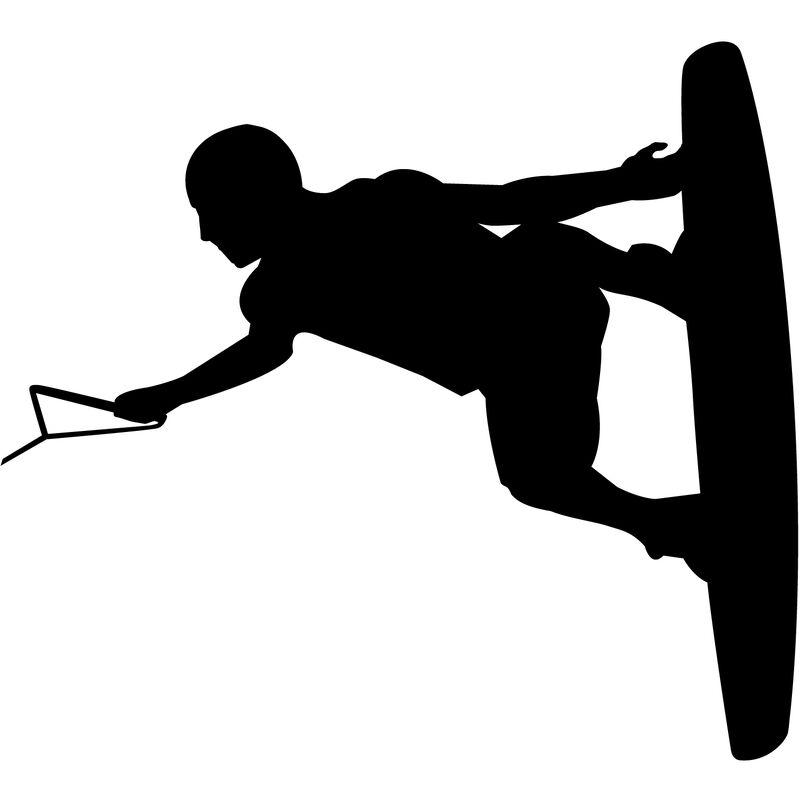 Wakeboarder Vinyl Decal image number 15