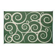 Reversible Swirl Design Patio Mat, 8' x 16', Green