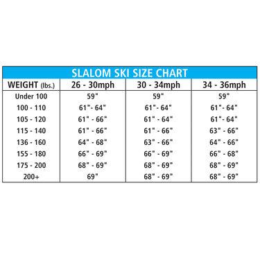 O'Brien Pro Tour Slalom Waterski w/X-9 Adjustable Binding And Rear Toe Plate