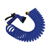 Whitecap 25' Coiled Hose with Adjustable Nozzle