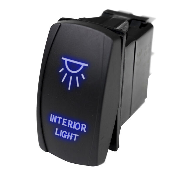 Race Sport LED Rocker Switch with Blue LED Radiance – Interior Lights
