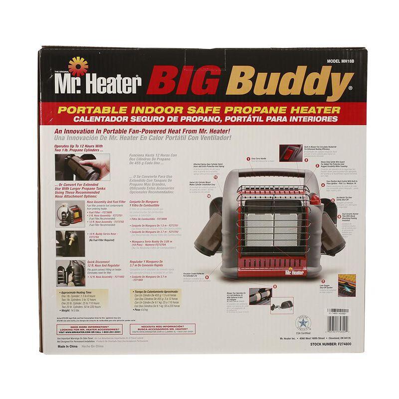 Mr. Heater Big Buddy Portable Indoor Propane Heater image number 3