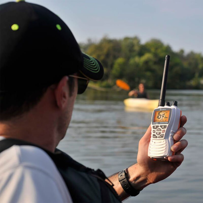 Cobra MR HH350 FLT Floating Handheld VHF Radio, White image number 3