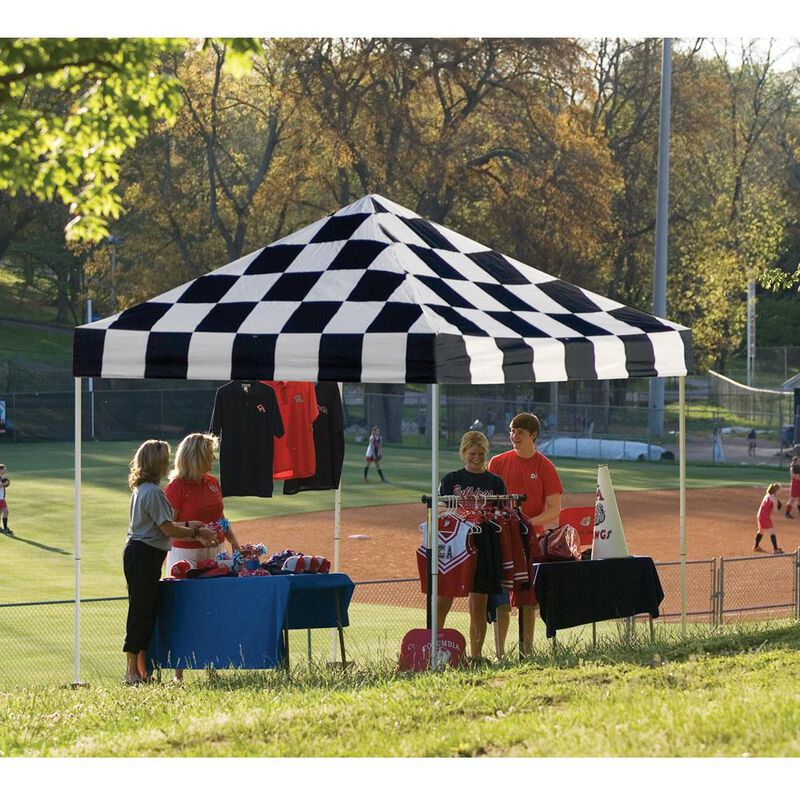 10X10 Pro Series Pop-Up Canopy - Checkered Flag image number 2