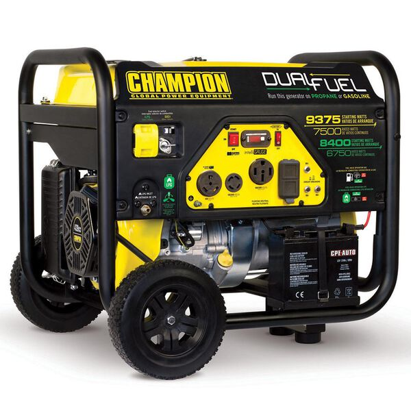 Champion 7500 Watt Dual Fuel Portable Generator