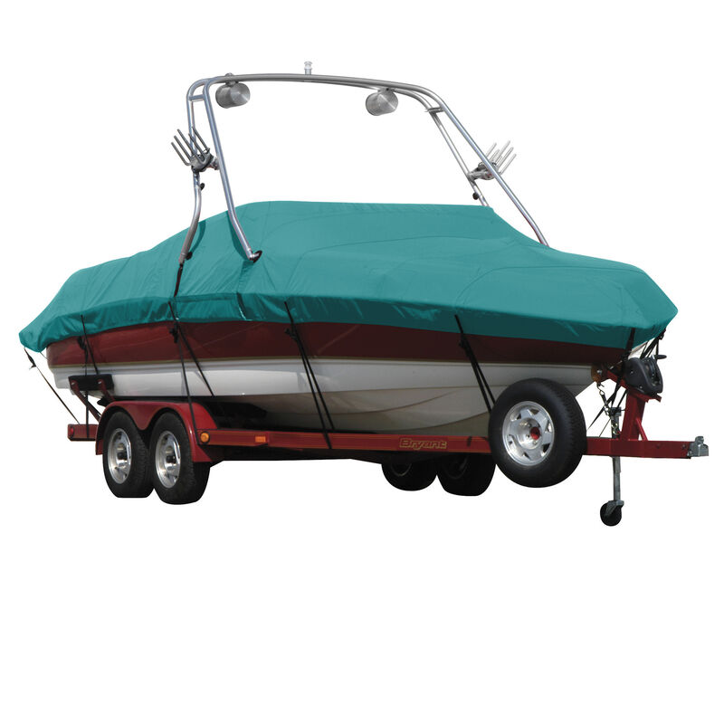 Exact Fit Covermate Sunbrella Boat Cover For CORRECT CRAFT AIR NAUTIQUE 216 COVERS PLATFORM w/BOW CUTOUT FOR TRAILER STOP image number 1