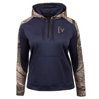 Huntworth Women's Heather Performance Fleece Quarter-Zip Hoodie