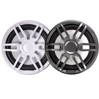"FUSION XS-SL10SPGW XS Series 10"" 600 Watt Sports Marine Subwoofer - Sports White & Grey Grill Options"