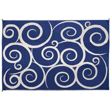 Reversible Swirl Design RV Patio Mat