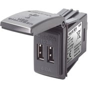 Blue Sea 1038 48V Dual USB Charger Contura Switch Mount