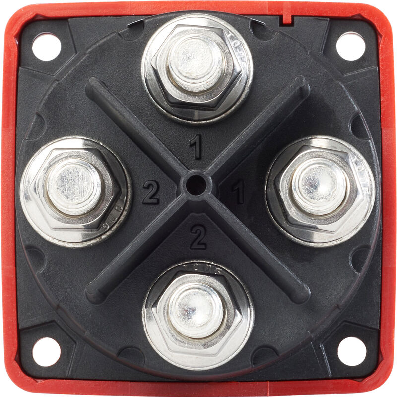 Blue Sea m-Series Mini Dual Circuit Plus Battery Switch - Red image number 2