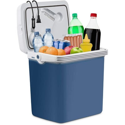 Ivation 25L Portable Electric Cooler and Warmer, Blue