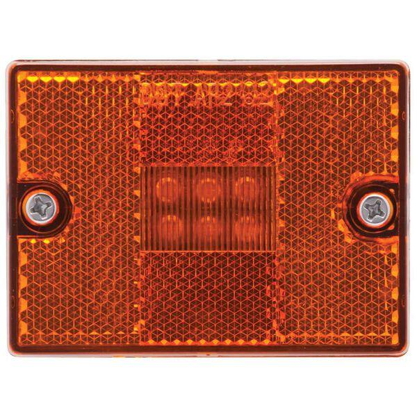 LED Amber Square Stud-Mount Clearance/Marker Light