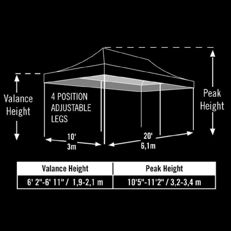 10X20 Pro Series Straight Leg Canopy - Black image number 3