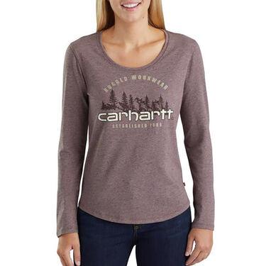 Carhartt Women's Lockhart Graphic Rugged Workwear Long-Sleeve Tee