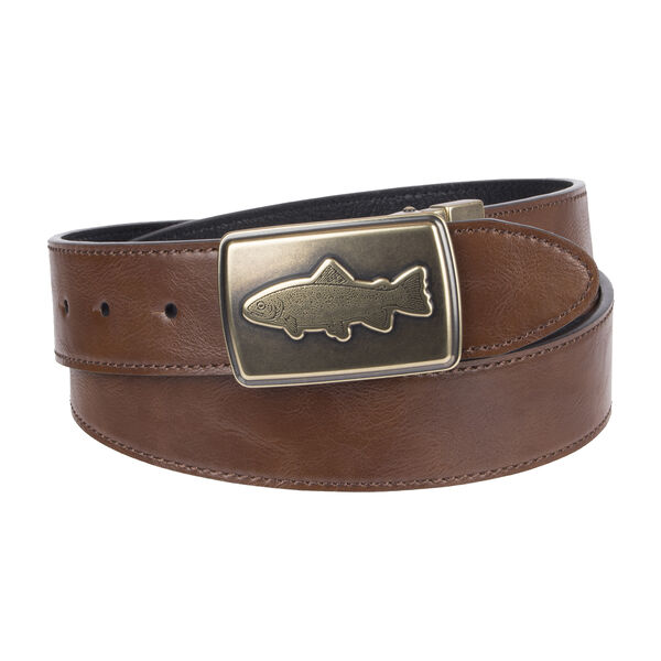 Columbia Men's 38MM Reversible Fish Plaque Belt