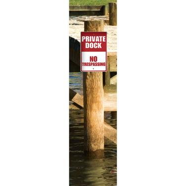"""Aluminum """"Private Dock"""" Sign"""