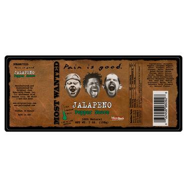 Original Juan Most Wanted Jalapeno Pepper Sauce 7.5oz