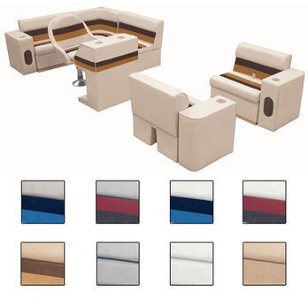 Deluxe Pontoon Seats w/Toe Kick Base, Group 6 Package Plus Stand, Sand