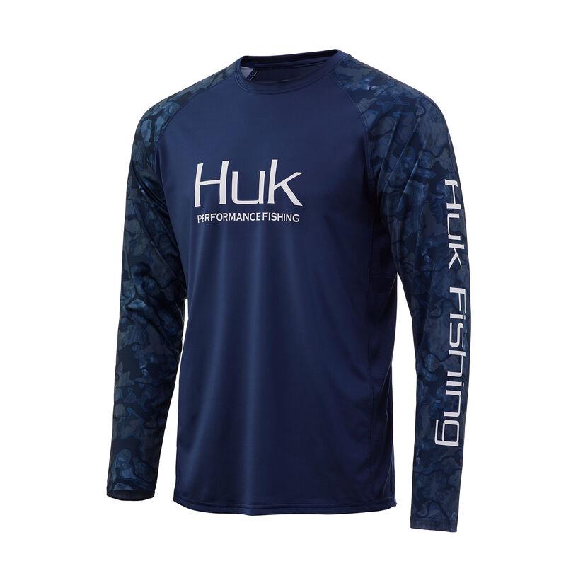 HUK Men's Camo Double Header Long-Sleeve Tee image number 3