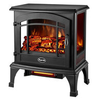 Comfort Glow Sanibel 3-Sided Infrared Quartz Electric Stove, Black Finish